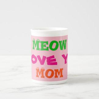 """Tasses de thé de café """"de maman de Meow je t'aime"""""""