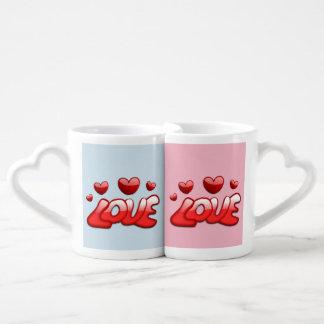 Tasses de Valentines - tasses d'amour