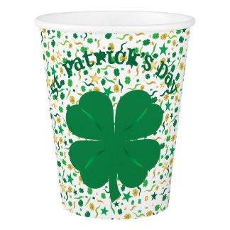 Tasses du jour de St Patrick de confettis de Gobelets En Papier