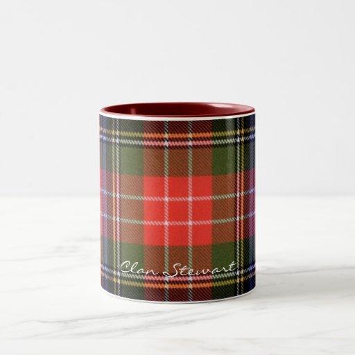 Tasses écossaises de concepteur de tartan de Stewa