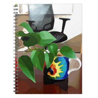 Tasses et usines de café carnet