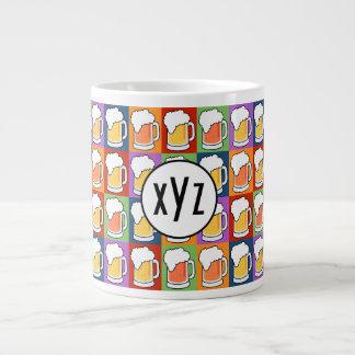 Tasses faites sur commande de monogramme d art de mugs extra larges