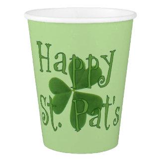 Tasses heureuses de jour de St Pat Gobelets En Papier