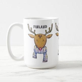 Tasses mignonnes de renne de la Finlande