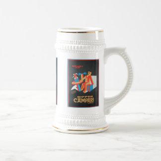 Tasses vintages amères d'étiquette de boisson