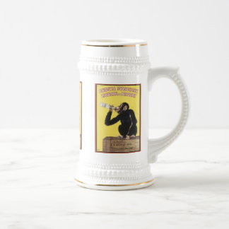Tasses vintages d'annonce de boisson alcoolisée