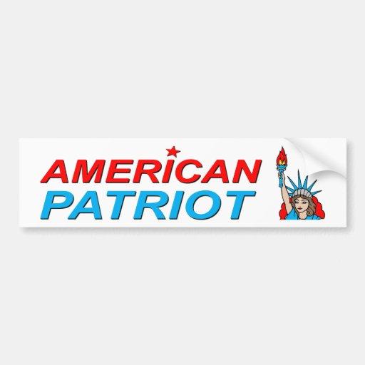 Tatouage américain de liberté de patriote autocollants pour voiture