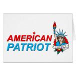 Tatouage américain de liberté de patriote carte de vœux