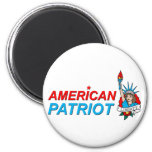 Tatouage américain de liberté de patriote magnets pour réfrigérateur