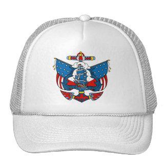 Tatouage de bateau dans la casquette de baseball