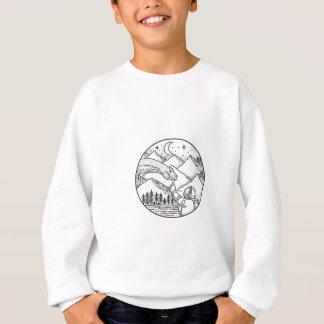 Tatouage de cercle de montagne d'astronaute de sweatshirt