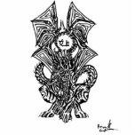 Tatouage de Drac Découpages En Acrylique