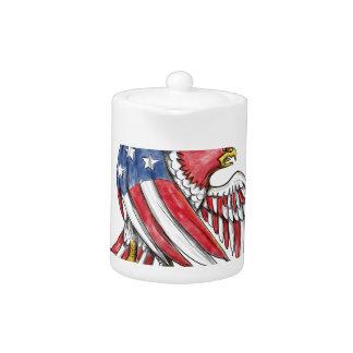 Tatouage de drapeau de bannière étoilée d'Eagle