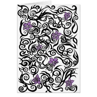 Tatouage de fleur - carte de voeux d'anniversaire