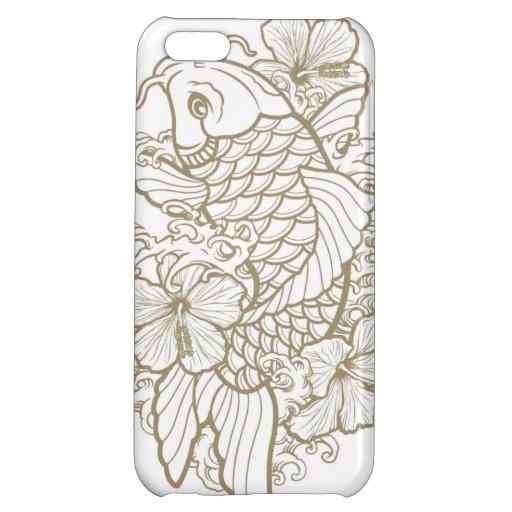 Tatouage de Koi d'or Coques Pour iPhone 5C