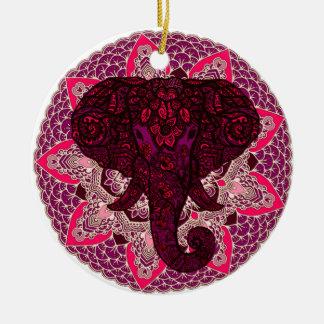 Tatouage de Mehndi de rose de mandala de tête Ornement Rond En Céramique