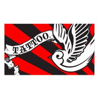 tatouage de moineau carte de visite standard