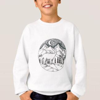Tatouage de montagnes d'astronaute de brontosaure sweatshirt