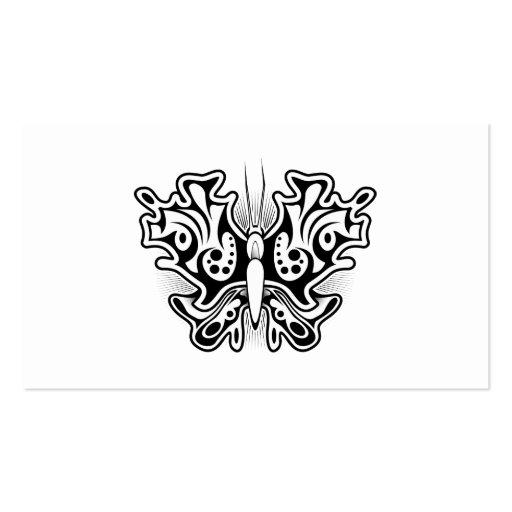 tatouage de papillon noir et blanc carte de visite standard zazzle. Black Bedroom Furniture Sets. Home Design Ideas
