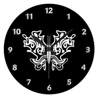 noir blanc tatouage horloges noir blanc tatouage horloges murales. Black Bedroom Furniture Sets. Home Design Ideas