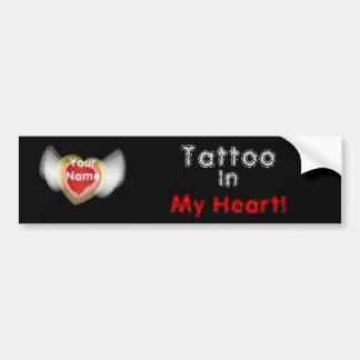 Tatouage, dedans, mon coeur ! , - personnaliser autocollant de voiture