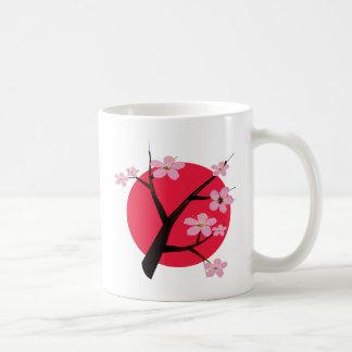 Tatouage japonais de fleurs de cerisier mug