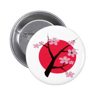 Tatouage japonais de fleurs de cerisier pin's