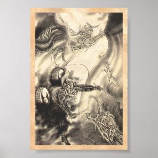 Tatouage japonais vintage classique frais de drago posters