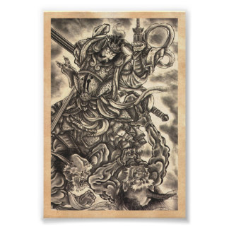 Tatouage japonais vintage classique frais d'encre  affiche