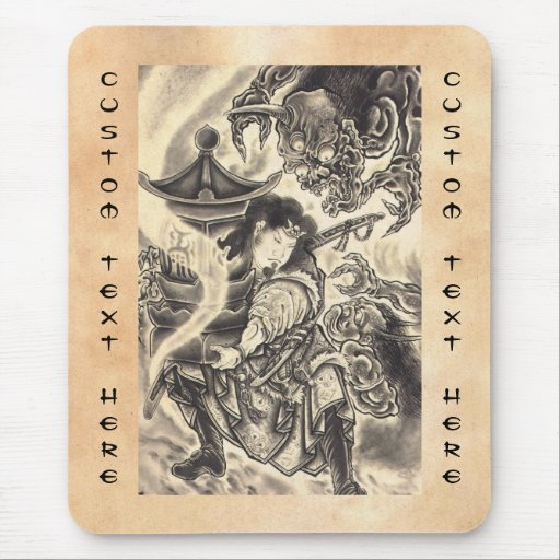 tatouage japonais vintage classique frais d encre tapis de souris zazzle