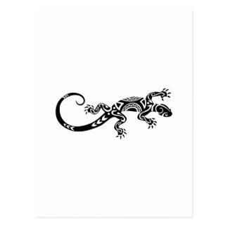 tatouage maori de lézard carte postale