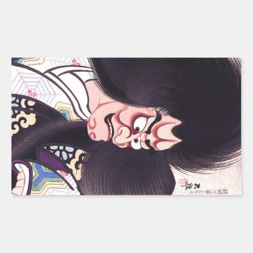 Tatouage oriental frais de Tsuchigumo de Japonais Stickers Rectangulaires