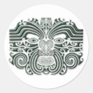 Tatouage-pierre de Maroi Sticker Rond