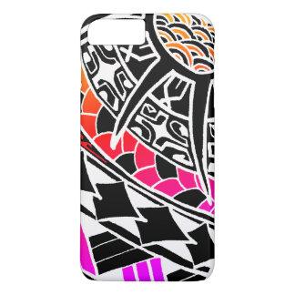 Tatouage polynésien blanc de LineA Coque iPhone 7 Plus