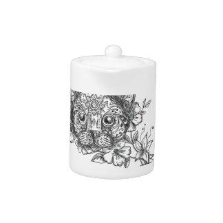 Tatouage principal de fleur de jasmin de chat