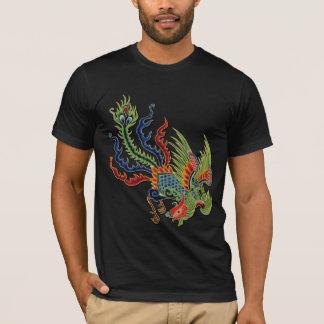 Tatouage riche chinois de paon t-shirt