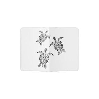 Tatouage tribal animal de tortues protège-passeport