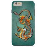 Tatouage vintage coloré de dragon du feu coque iPhone 6 plus tough