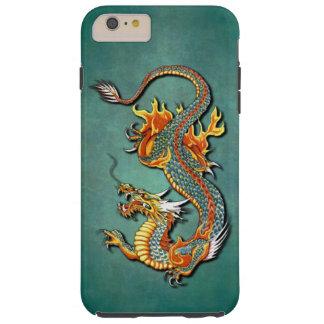 Tatouage vintage coloré frais de dragon du feu coque tough iPhone 6 plus