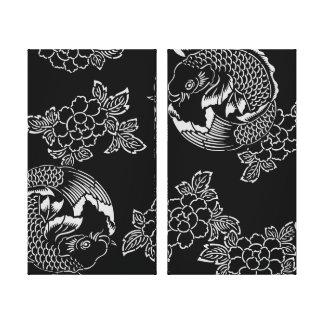 Tatouage vintage Koi (carpe) de Japonais Toiles
