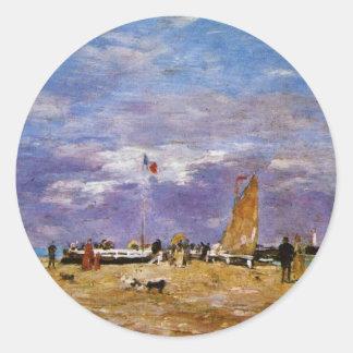 Taupe de Deauville par Boudin Eugène Adhésifs Ronds