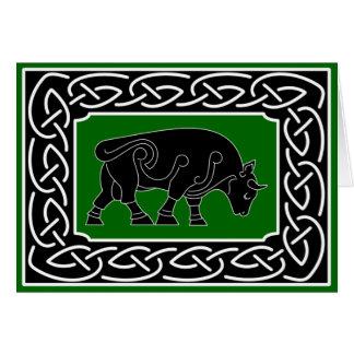 Taureau de la prospérité - carte de voeux
