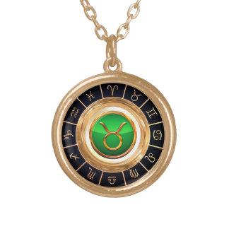 Taureau - le symbole astrologique de Taureau Collier Plaqué Or