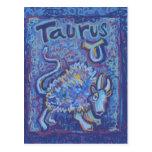 Taureau, produits de zodiaque carte postale
