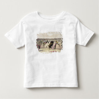 Taureau sautant les barrières, 1865 (litho de t-shirt pour les tous petits