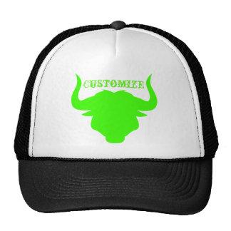 Taureau vert au néon casquette
