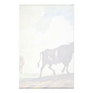 Taureaux et vaches par le potier Paulus (la Papier À Lettre Customisé
