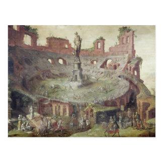 Tauromachie antique, 1552 carte postale