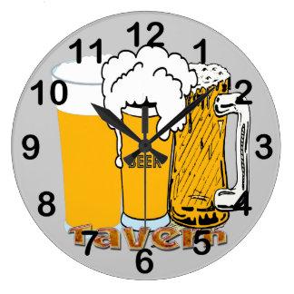 Taverne - horloge murale ronde de bière