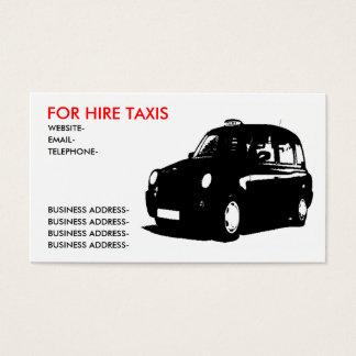 Taxi anglais cartes de visite